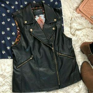 Sanctuary Vegan Leather Moto Vest
